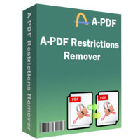 A-PDF Restrictions Remover (PDFセキュリティ解除)